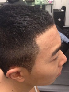 Men's Haircut Chic Shaved with Tribal