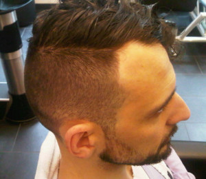 Men's Haircut Old English Style 1