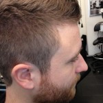 Men's Hair Crew Cut with Styled Beard 1
